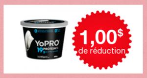 Coupon de 1$ à l'achat d'un pot de yogourt skyr YoPRO