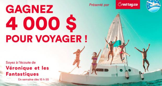 Gagnez 4 000 $ pour voyager
