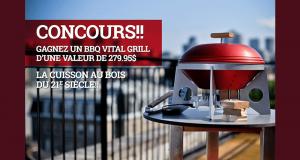 Gagnez un BBQ VITAL GRILL (valeur de 279.95$)
