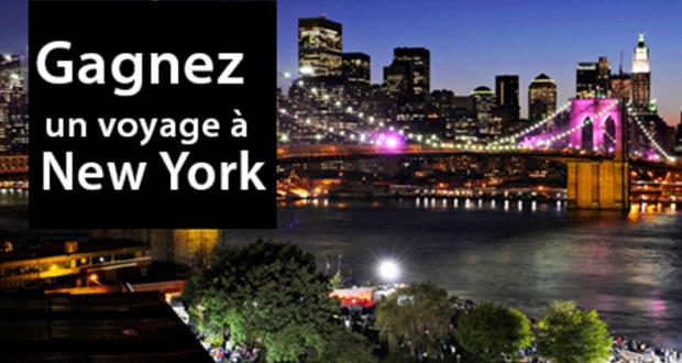 Gagnez un Voyage pour 4 à New-York (Valeur de 6545$)