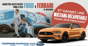 Gagnez une location d'une Ford Mustang 2019 décapotable