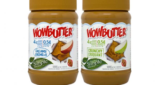 Échantillons gratuits de la pâte à tartiner Wowbutter
