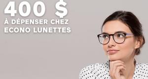 400 $ pour l'achat de votre nouvelle paire de lunettes