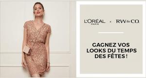 6 000 $ en cartes-cadeaux RW&CO. & produits L'Oréal Paris