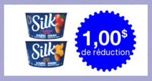 Coupon de 1$ à l'achat de Silk Yogourt Amandes 150g