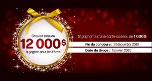 Gagnez 12 cartes-cadeaux Linen Chest de 1000$ chacune