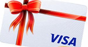 Une carte-cadeaux VISA d'une valeur de 2 000 $