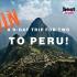 Gagnez un Voyage de 9 jours au Pérou (Valeur de 7000$)