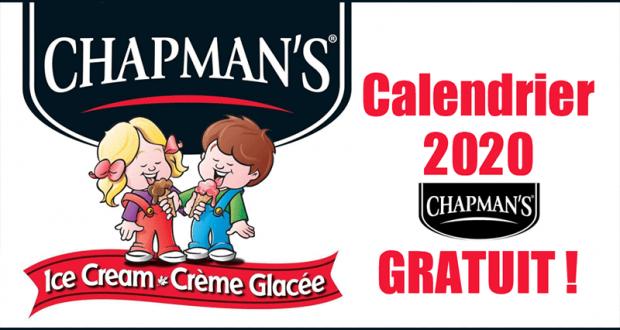 Obtenez gratuitement un calendrier Chapman's 2020