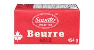 Beurre Saputo 454g à 2.98$