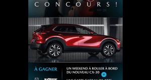 Gagnez Un weekend à bord du nouveau Mazda CX-30
