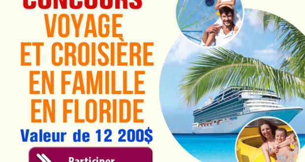 Gagnez un Voyage et croisière en famille en Floride (Valeur de 12 200 $)