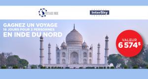 Gagnez un voyage de 16 jours pour 2 personnes en Inde du nord