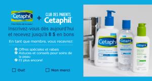 Obtenez 8$ en coupons rabais sur les produits Cetaphil