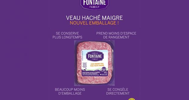 Coupon de 1$ à l'achat de veau haché Famille Fontaine