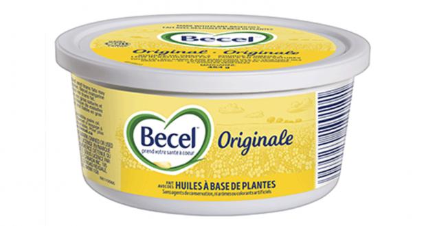 Coupon rabais de 1$ sur la margarine Becel (tout format)