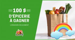 100$ d'épicerie livrée à votre domicile