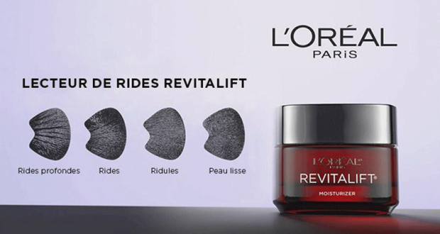 GRATUIT : Un lecteur de rides L'Oréal Revitalift + Coupon de 4 $