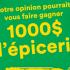 Gagnez 1000$ d'épicerie chaque mois