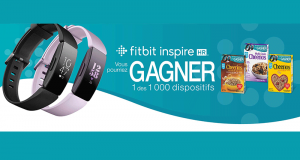 1 000 dispositifs de suivi de mise en forme Fitbit Inspire