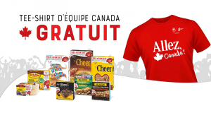 100 000 T-shirts d'Equipe Canada offerts