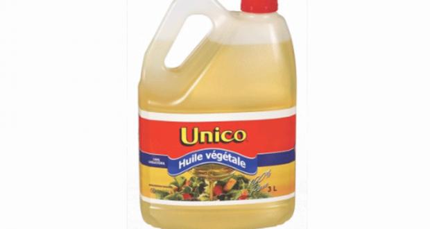 Huile végétale Unico à 2$