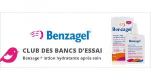 Lotion hydratante après soin de Benzagel à tester
