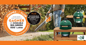 Un Ensemble Big Green Egg Large (Valeur de 2366 $)