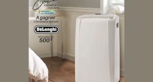 Un climatiseur portatif De'Longhi (valeur de 500$)