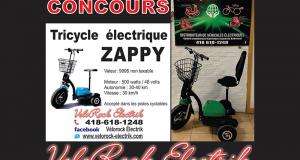 Un tricycle électrique ZAPPY pour adulte (Valeur de 999$)