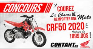 Gagnez Une moto Honda tout terrain CRF50 2020