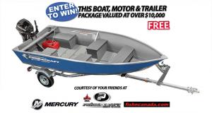 Gagnez un Ensemble de bateau de pêche (Valeur de 10000$)