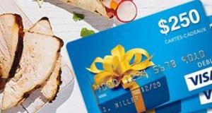 Gagnez une des 40 cartes prépayées Visa de 250$