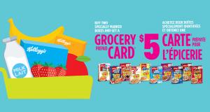 Recevez des cartes-cadeaux épicerie de 5$ par la poste