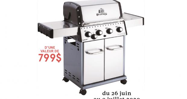 Un barbecue Broil King 50 000 BTU 644 po² de 799$