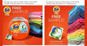 Échantillons gratuits des capsules de détergent à lessive Tide