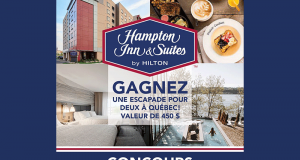 2 nuitées au Hampton Inn & Suites Saint-Romuald