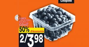 50% d'économie sur BLEUETS BLUEBERRIES