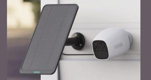 Caméra de sécurité Vacos avec un panneau solaire