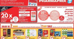 Circulaire Pharmaprix du 25 juillet au 30 juillet 2020