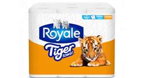 Emballage de 6 rouleaux de papier Royale Tiger Towel à 2.99$