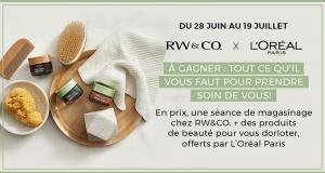 Gagnez 5 000 $ en prix L'Oréal Paris et RW&CO