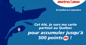 Obtenez 100 points pour chaque nouveau magasin Metro visité