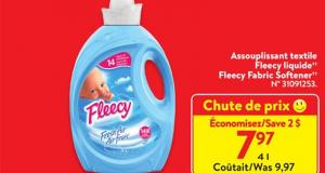 Rabais de 2$ sur Assouplisseur liquide de tissus Air Frais de Fleecy