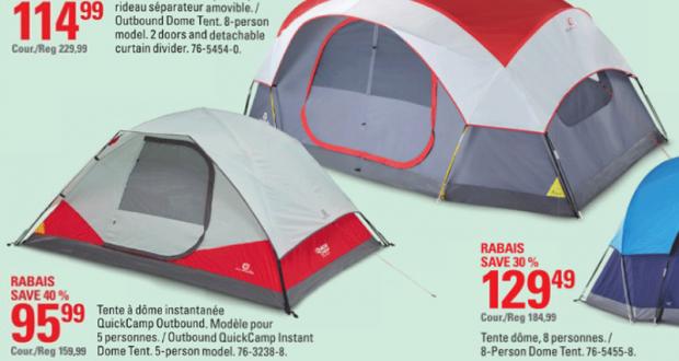 Rabais de 50٪ sur Tente à 2 pièces Outbound 8 personnes