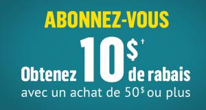 Réno Dépôt 10$ de rabais avec tout achat de 50$ ou plus