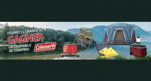 Un ensemble de camping Coleman d'une valeur de 1 000$