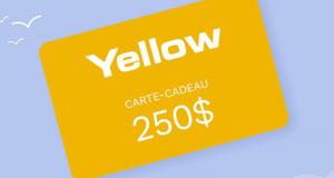 Une Carte cadeau CHAUSSURES YELLOW de 250$