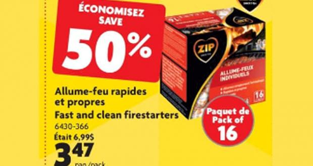 50% de rabais sur Allume-feu rapides et propres