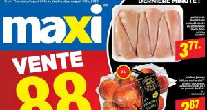 Circulaire Maxi du 20 août au 26 août 2020